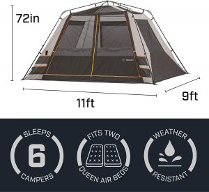 How to Pack the Bushnell Shield Series 11' x 9' Instant Cabin Tent?