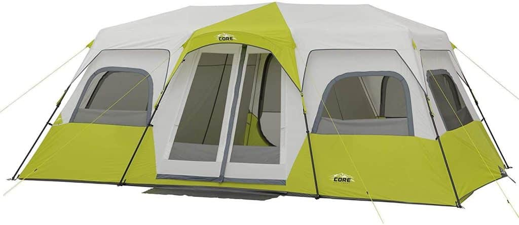 Features of Core 12 Person Instant Cabin Tent