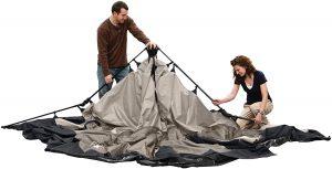 Coleman 8-Person Instant Tent setup 1