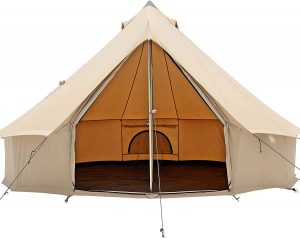 PlayDo Cotton Canvas Large Family Camp Bell Tent