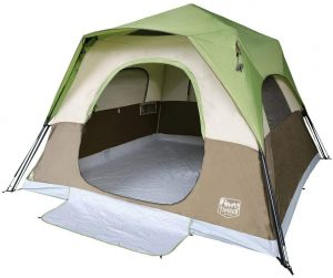 Timber Ridge 6 Person Instant Cabin Tent with Rainfly