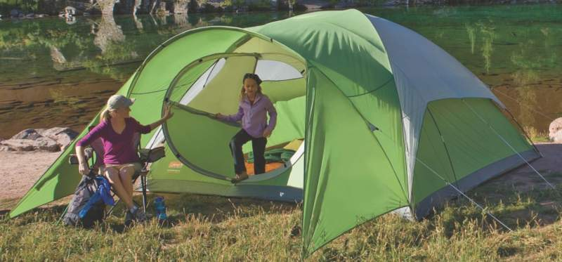 Coleman-Evanston-8-Family-Dome-Tent-in-nature
