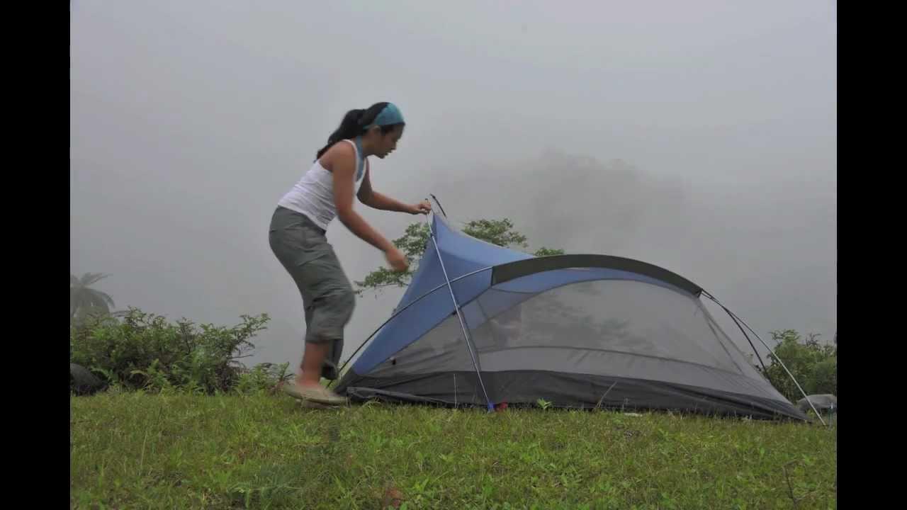 The North Face Tadpole 23 tent setup